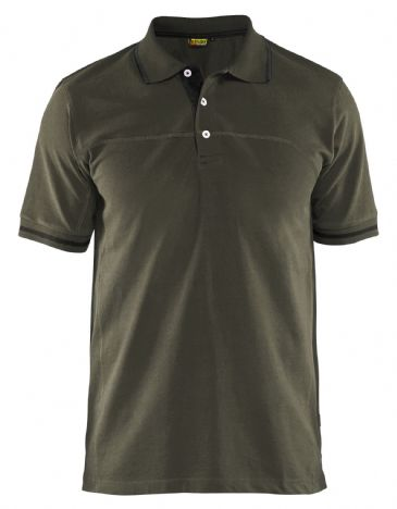 Blaklader 3389 Pique Polo Shirt (Dark Olive Green/Black)